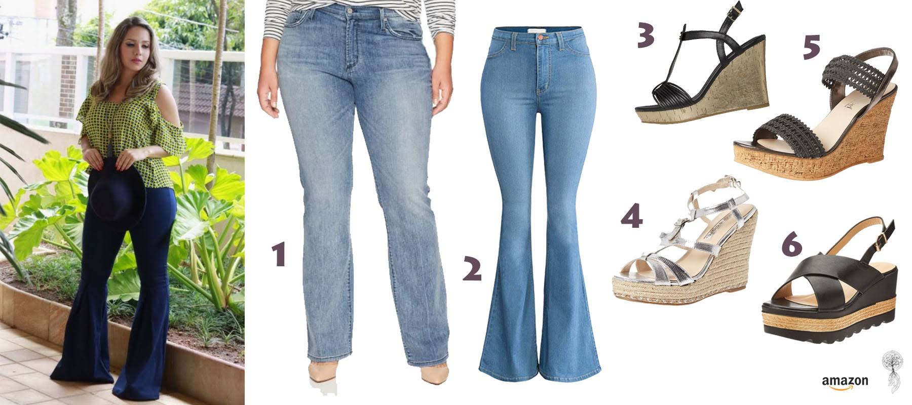 Bootcut pants and wedges available in Dubai UAE
