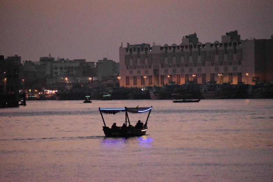 boating on sunset